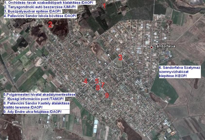 sándorfalva térkép Délinapfény Leader Akciócsoport sándorfalva térkép